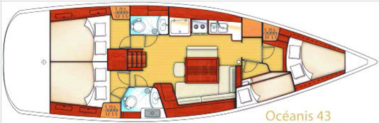 Oceanis 43 4 cabines