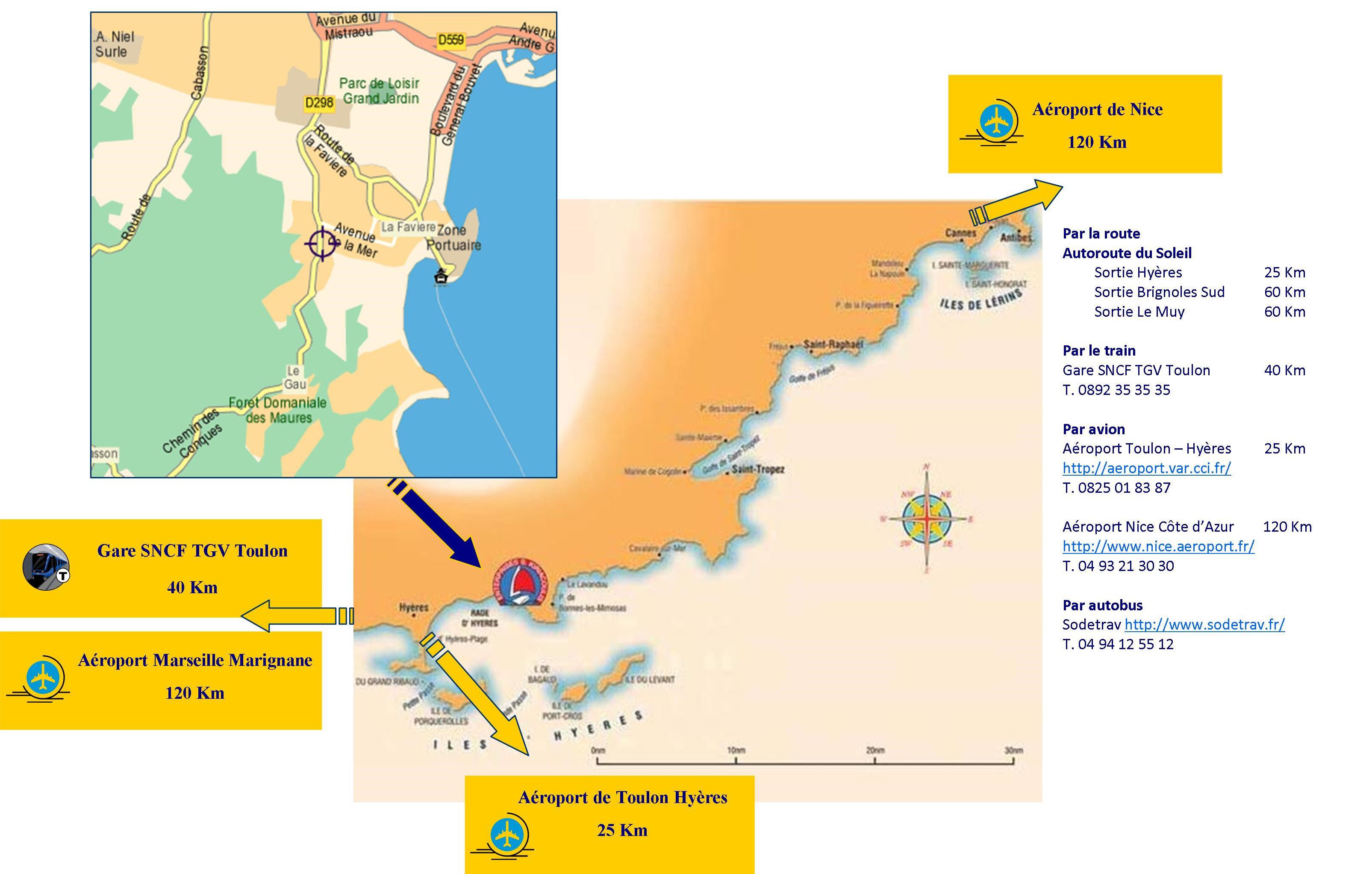 Plan d'accès Bormes les Mimosas